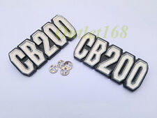 Pair Honda CB200 CB 200 Side Frame Air Clean Cover Emblem Badge Logo With Clips