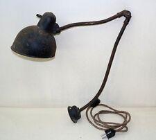 alte Kaiser Idell Gelenkarmlampe, Werkstattlampe, Art Deco, Schreibtisch Lampe