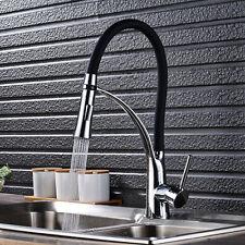 Kitchen Pull Down Spray Faucet Swivel Spout Mixer Tap Single Handle Chrome Set