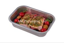 """* Foil Baking Tray Medium Tray Bake Containers Aluminium 8 x 5"""" BF180"""