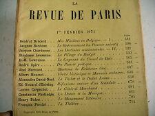 LA REVUE DE PARIS n° 3 - 1934 revue littéraire LAUZANNE GISCARD ESTAING etc