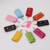 PU Leather Key Chain Accessory Pouch Bag Wallet Case Key Holder