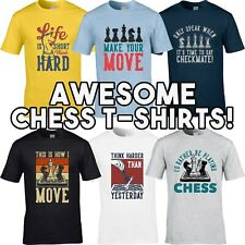 Chess T-Shirts Men's T-Shirt Funny Grandmaster Board Strategy Game Player Gift