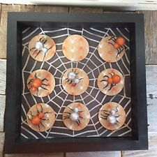 AGD Halloween Decor - Spider Tic Tac Toe Board Game