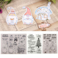 Christmas Clear Stamps Transparent Silicone Rubber Stamp Embossing Scrapbook DIY
