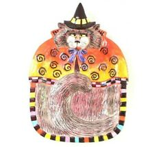 Fitz and Floyd Kitty Witches Halloween Canape Curly Q's Candy Dish Platter Plate