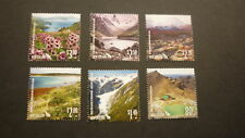2015 NEW ZEALAND POST STAMPS, SET OF 6 UNESCO WORLD HERITAGE SITES MINT MNH