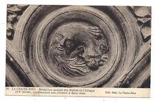 la chaise dieu ,médaillon sculpté des stalles de l'abbaye