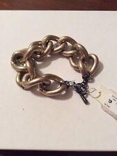$45 Kenneth Cole  Merlot Gold  Link Toggle Bracelet #26a