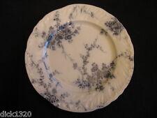 """VICTORIAN BOOTHS """"PRINCESS"""" 10"""" FLOW BLUE DINNER PLATE Regd.mark 1892 EX"""