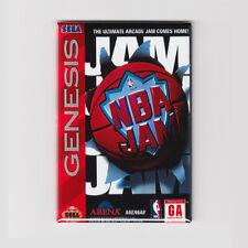 "NBA JAM / SEGA GENESIS COVER  2""x3"" POSTER FRIDGE MAGNET (snes arcade vintage)"