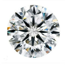 10mm Natural White Diamond H Color 3.5cts Round Shape VVS2 Clarity
