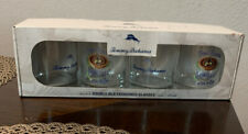 NEW Tommy Bahama Double Old Fashioned Bar Glasses, Spin Class,14oz Set of 4