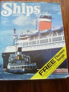 JOB LOT X 10 VINTAGE SHIPS MONTHLY MAGAZINES 1974 TO 1980
