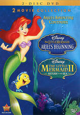 Disney The Little Mermaid Prequel Ariel's Beginning & Sequel II Return Sea 2 DVD