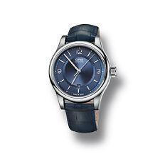 73375944035ls ORIS klassisch Datum Herren Blau Leder Armband Automatik Uhr