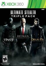 NEW Ultimate Stealth Triple Pack (Microsoft Xbox 360, 2015) Thief Hitman Deus Ex