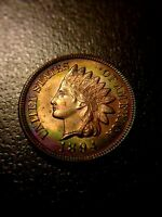 1894 Indian Head Cent **Brilliant Uncirculated** BU MS Red RD Sharp Penny TONING
