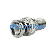 F female to Bnc male plug straight connector adapter