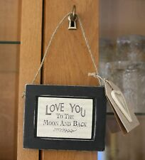 Vintage Chic East of India Sign Love you to the moon & Back Sign Anniversary