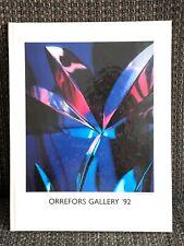 Nachschlagewerk Studioglas Glas Schweden Orrefors Gallery' 92 guter Zustand
