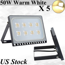 5X Viugreum 50W Ultra-thin LED Flood Light Warm White Outdoor Security Fixtures