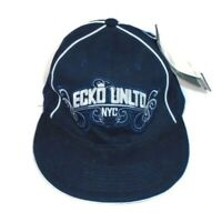 ECKO UNLTD NYC NWT Mens Fitted 7 3/8 Baseball Hat Cap NEW Navy Blue