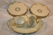 ANTIQUE Haviland Limoges Hand Painted artist signed 9 pieces