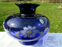 """FENTON GLASS Royal Purple 1998 Historic Collection Hand Painted VASE 6.75""""H"""