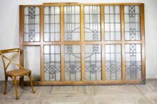 More details for solid oak and glass room dividers 1930s style
