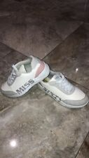 MISS SIXTY Trainers Ladies White Grey Size UK 4 EUR 37 Shoes Slip On Lace Up