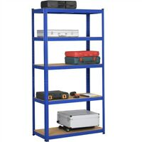 "Heavy Duty Shelving Garage Steel Metal Storage Rack Adjustable Shelves, 71""H"
