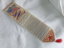 "Antique TILT Stevengraph Bookmark ""The Star Spangled Banner"" Woven Silk"