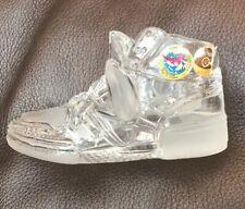 Vintage Hofbauer Crystal Shoe Kicks Air Sneakers Basketball High Top