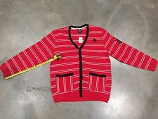 Crooks And Castles Striped Cardigan In Red/white NWT Sz. Xl 100% Authentic