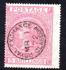 Victoria 1867 5/- Red Glasgow Royal Exchange CDS Plate 2 Used SG126 (1)
