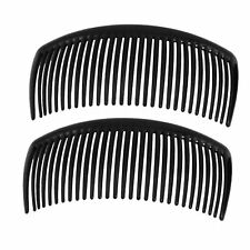 2 x Black Large 90mm Side Combs Hair Slides Making Wedding Prom Fascinator's