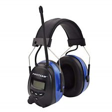 Rechargeable Ear Defenders with Bluetooth, FM/AM Digital Radio and Built-in Ear