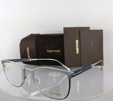 Brand New Authentic Tom Ford Eyeglasses FT TF 5483 018 52mm Silver & Navy Frame