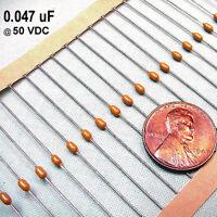 (12) 0.047 uF @ 50 Volts Sub-Miniature Kyocera Axial Ceramic Capacitors