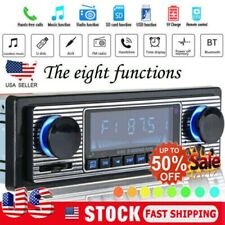 US Vintage Car Bluetooth Radio MP3 Player Stereo USB/AUX Classic Stereo Audio FM