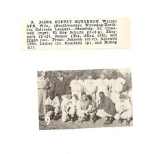 3450th Supply Squadron Warren Afb Wyoming 1953 Baseball Team Picture