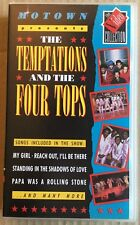 MOTOWN presents THE TEMPTATIONS & THE FOUR TOPS + ARETHA! 1988 UK VHS Video  Ex!