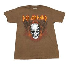 Def Leppard Men's T Shirt Rock And Roll Music Band Graphic Faded Tee