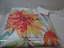 New Tahari Home MARTINA Floral Fabric Shower Curtain 72x72 Multi Colors Flowers