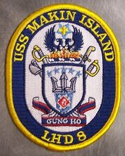 Embroidered Military Patch U S Navy ship Amphibious USS Makin Island LHD-8 NEW
