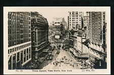 USA NEW YORK Times Square View North c1920/30s? RP PPC Wm Fra #24