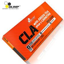 CLA 60/120 Capsules Green Tea L-Carnitine Cellulite Remover Fat Burner Slimming