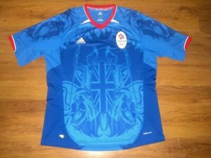 Vintage Adidas TEAM GB 2002 Olympic Shirt Jersey England Great Britain SIZE: XL