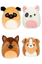 "Squishmallows Kellytoy Super Soft Plush Pillow 8"" Dog Collection"